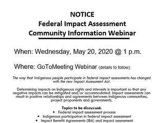 Federal Impact Assessment Community Information Webinar