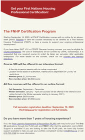 Get Your First Nation Housing Professional Certification!