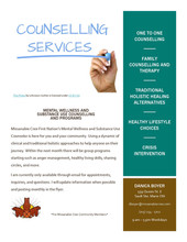 Counselling Services for Missanabie Cree Community Members