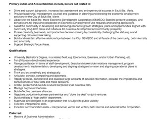 Sault Ste. Marie Job Opportunity - Director Economic Development