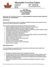 Islandview Camp - Camp Managers Job Posting
