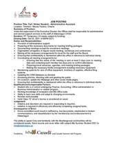 Job Posting - Wakenagun - Fall/Winter Student - Administrative Assistant
