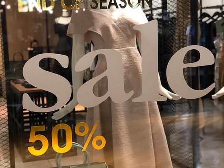 It raining sales