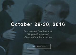 Featured Speaker in Worship Oct 29/30