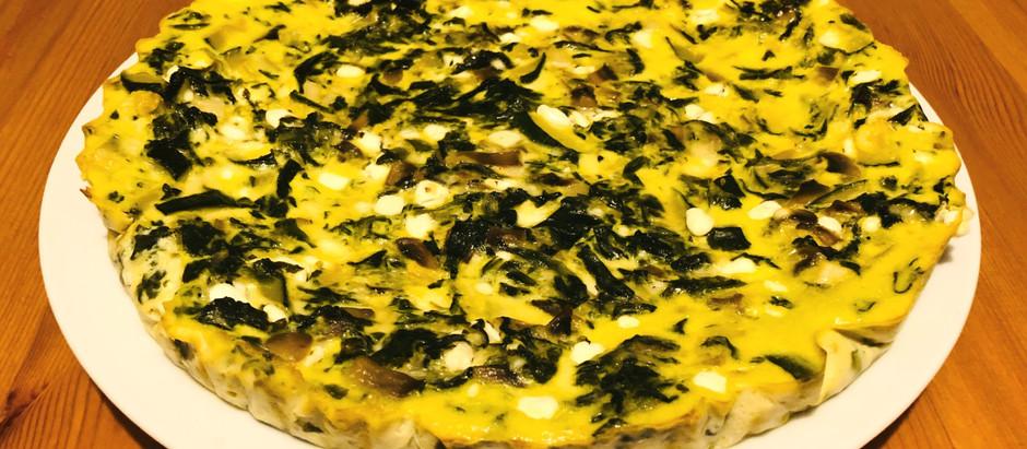 Zeleninový keto-quiche