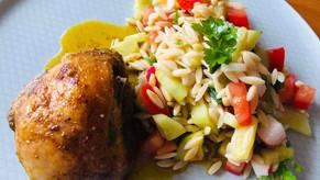 Bylinkové kuře s Low Carb těstovinami a zeleninou
