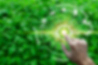 Finger touch with environment Icons over