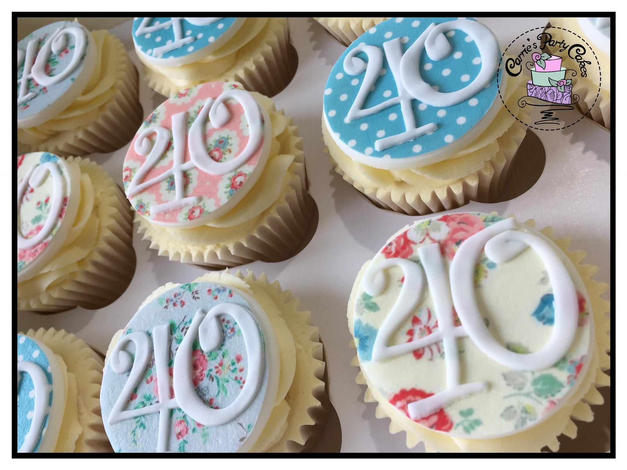 40th cupcakes