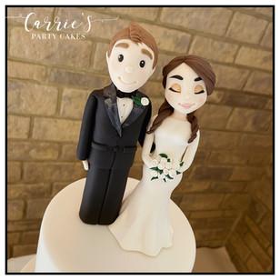 Handmade personalised bride and groom topper
