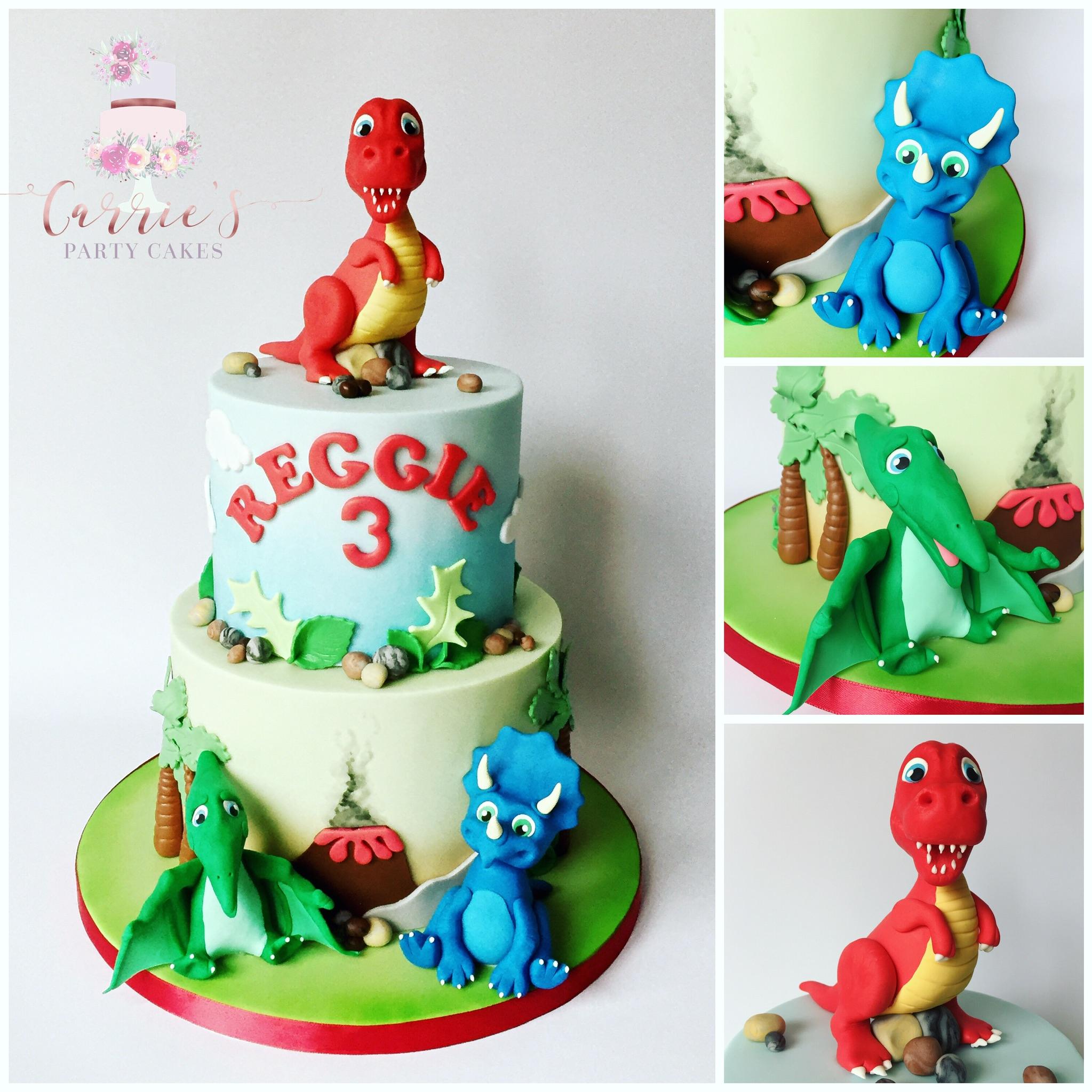 fun dinosaur cake