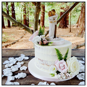 rustic small wedding cake