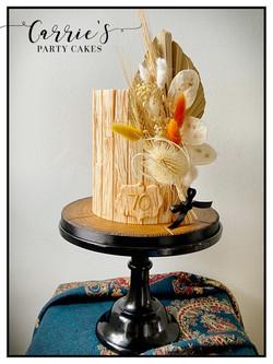 Wood theme cake