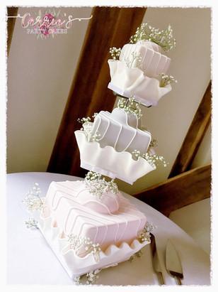 French Fancy wedding cake