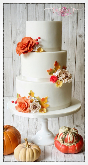 fall inspired wedding cake