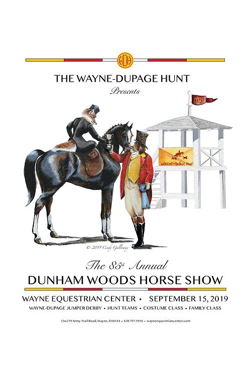 2019 Dunham Woods Horse Show Program Cover Poster