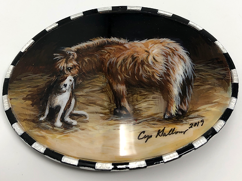 'Fluff & Scruff' Hand Painted Buckle