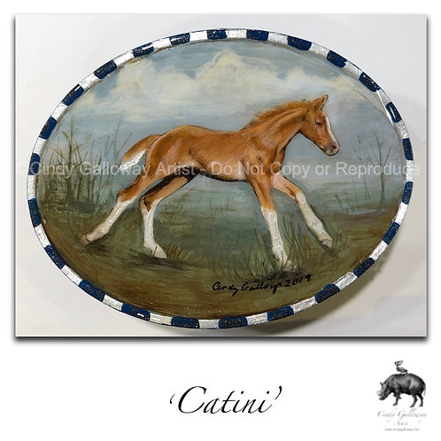 'Catani' Hand Painted Buckle