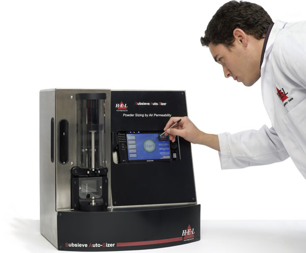 Subsieve AutoSizer Automated Fisher Number (FSSS) Particle-Sizing System