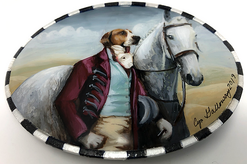 'Early To Meet' Hand Painted Buckle