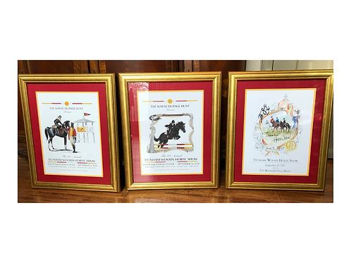 Set of 3 - 2017, 2018, 2019 Framed Show Prints
