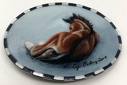 'Mary's Foal' Hand Painted Buckle