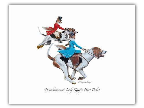 'Houndestrienne' Lady Kitty's Hunt Debut Print