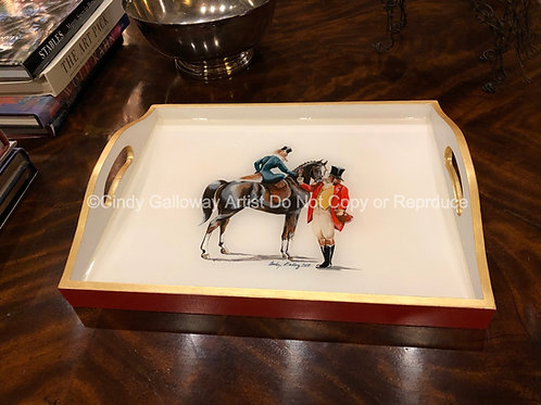 'DeCanter' Hand Painted Tray