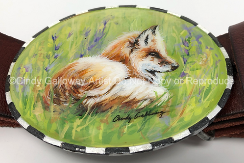 'Foxlettey' Hand Painted Buckle