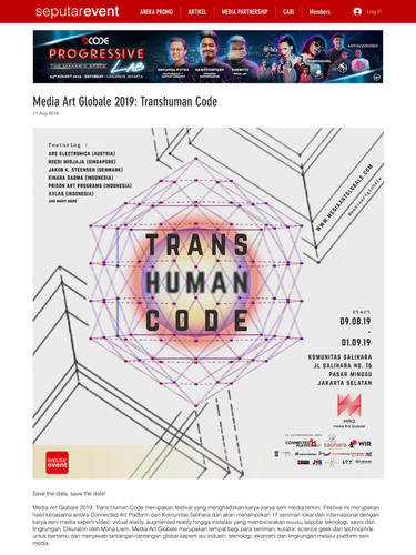 01Media Art Globale 2019_ Transhuman Cod