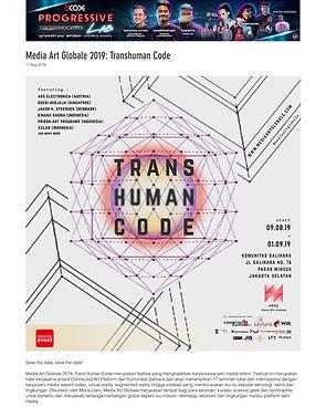 01Media Art Globale 2019_ Transhuman Cod