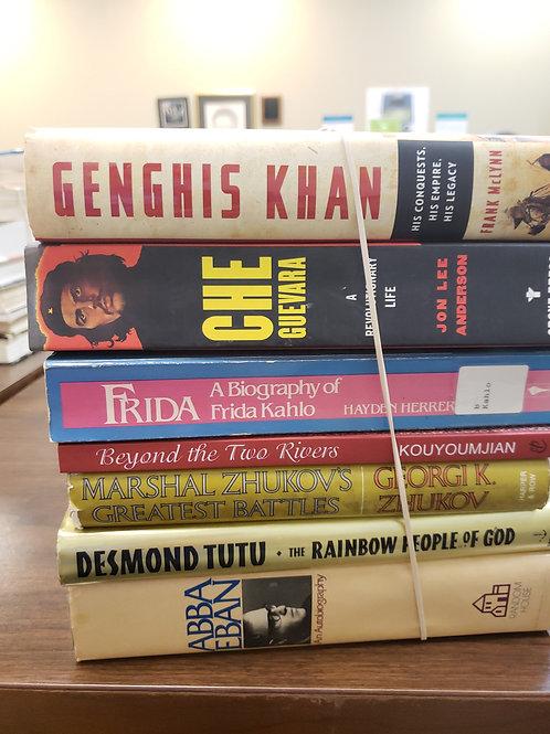 Genghis Khan Che Guevara Frida Kahlo Marshall Zhukov Desmond TuTu Abba Eban