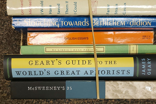 Classics- Didion, Geary, McSweeney