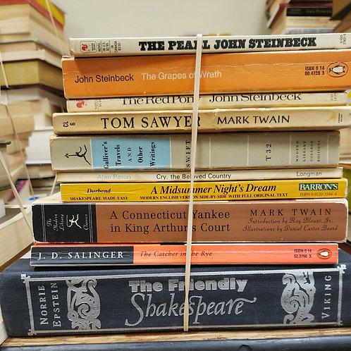Classics- Shakespeare, Twain, Salinger, Steinbeck