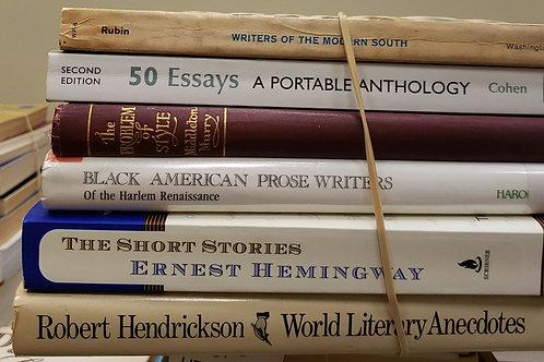 Classics- Angleou, Fisher, Thurman, Hurston, McKay, Toomer, Hemingway
