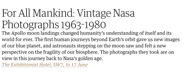 For All Mankind: Vintage Nasa Photographs 1963-1980