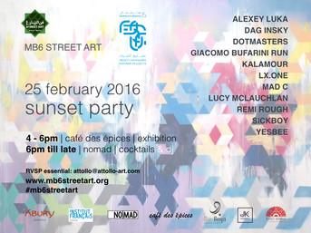 24.02.2016 - 08.05.2016 MARRAKECH BIENNALE STREET ART
