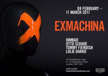 08.02.2017 - 11.03.2017     </EXMACHINA>/: EXHIBITION OTTO SCHADE >/: TOMMY FIENDISH >/: LOLIE DARKO >/: HIMBAD >/: PADB COLLECTION