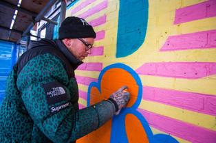 Ben Eine working in Croydon
