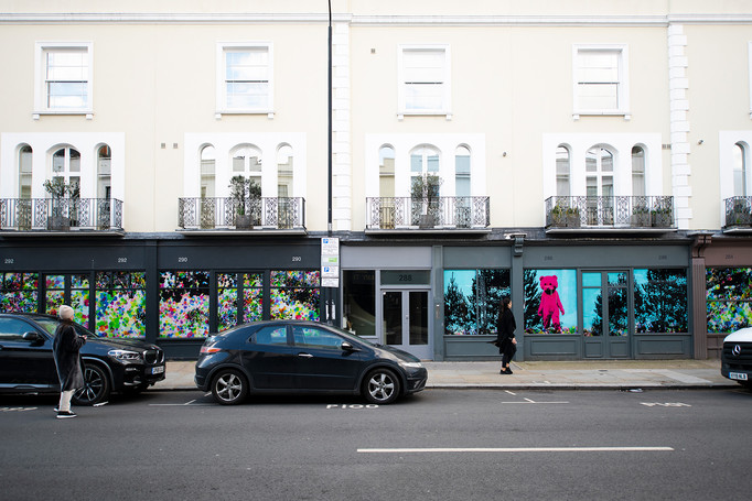 KCAW + Clear Channel Gallery Outside 2021 LUAP's Good Vibrations part of KCAW High Street Windows 2021