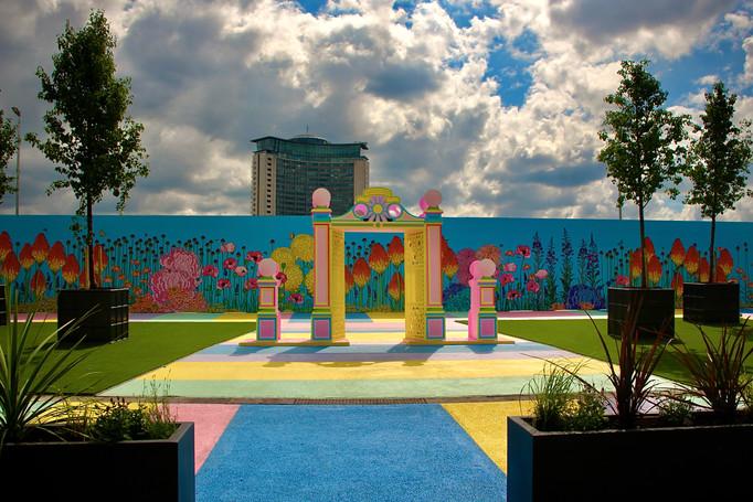 KCAW + Clear Channel Gallery Outside 2021 Baker + Borowski's Pleasure Garden, Earl's Court