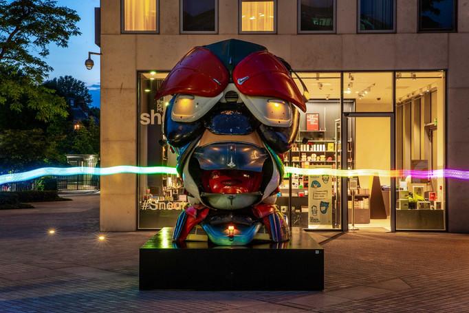 KCAW + Clear Channel Gallery Outside 2021 Zak Ove's 'Autonomous Morris' Public Art Trail 2021