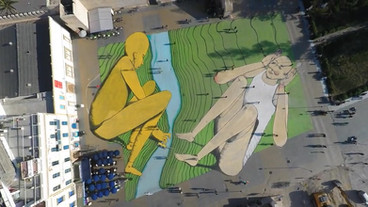 'Les Rives' - the Largest Mural in North Africa