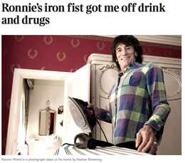 9.07.2015     LONDON SEEN RONNIE WOOD BY NATHAN BROWNING