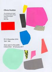 12.12.2016 - 04.02.2017   3D CUTOUTS BY OLIVIA HODDER