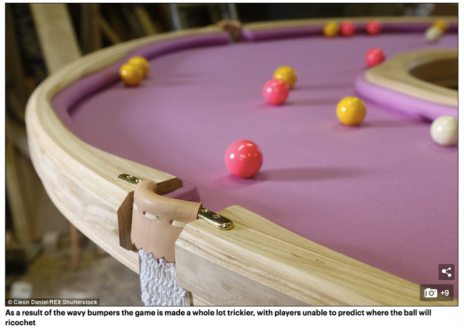 Tickled pink! Pool table is designed to look like a giant donut – complete with a hole in the middle