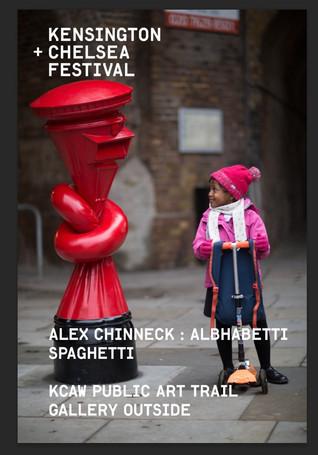 KCAW + Clear Channel Gallery Outside 2021 Alex Chinneck's Alphabetti Spaghetti 2020