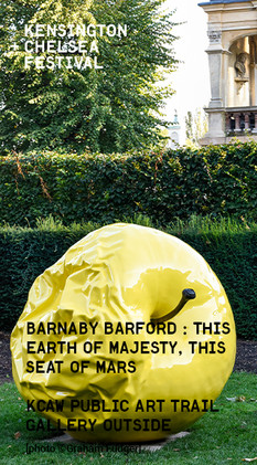 Wandsworth Bridge Barnaby Barford's 'THIS EARTH OF MAJESTY, THIS SEAT OF MARS, 2019'