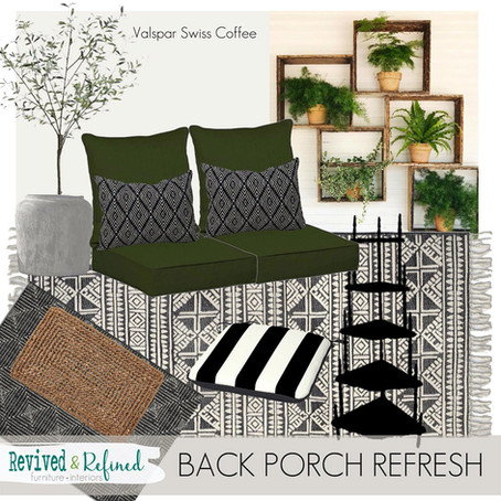 Back Porch Refresh & A New Plan