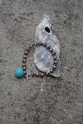 Pearl Amazonite Bracelet
