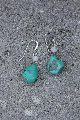 Turquoise Moonbeam Earrings